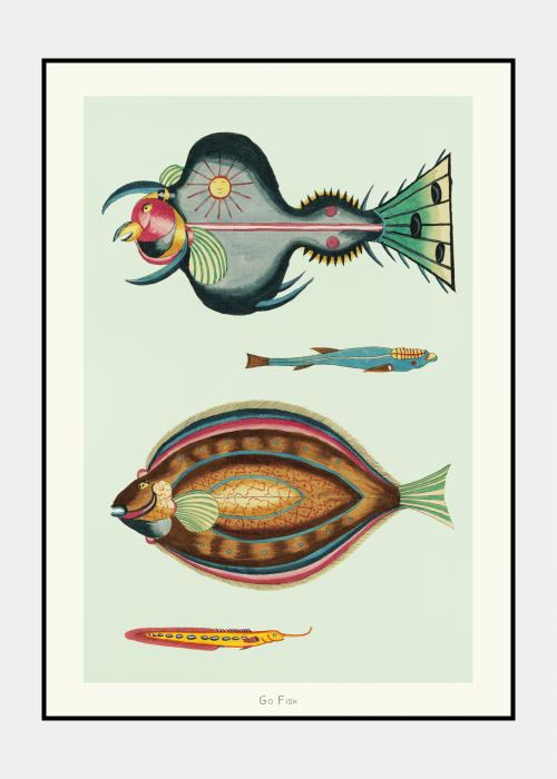 Go Fish no. 1 - plakat i ramme