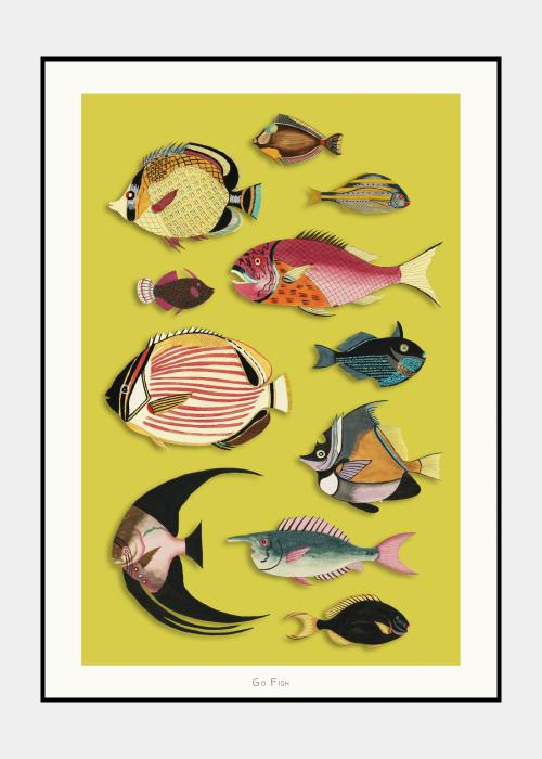 Go Fish no. 5 - plakat i ramme