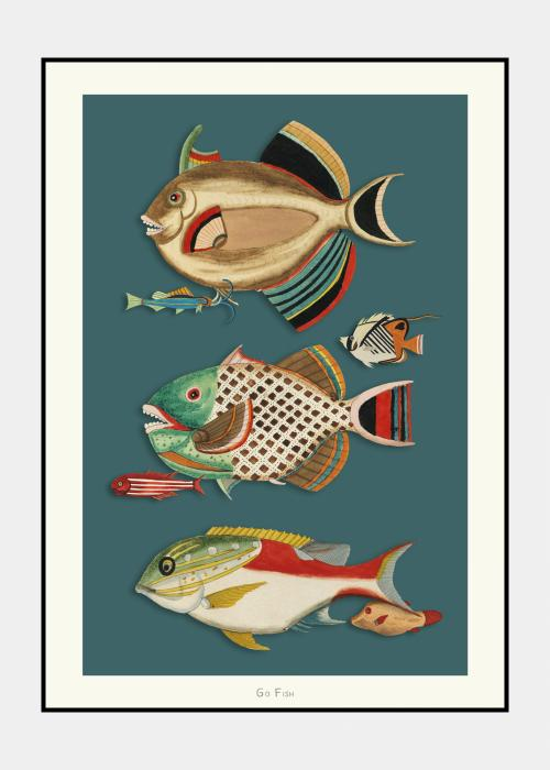 Go Fish no. 6 - plakat i ramme