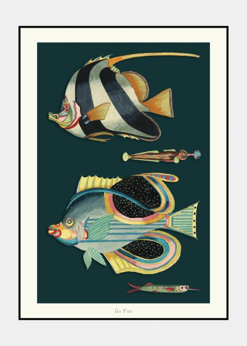 Go Fish no. 7 - plakat i ramme