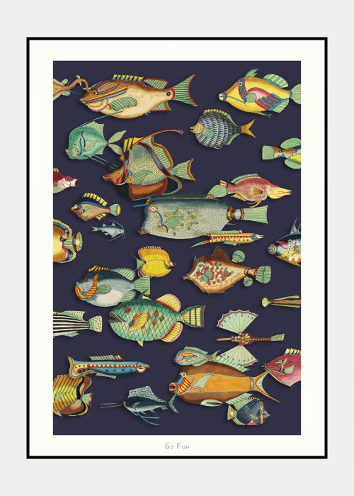 Go Fish no. 8 - plakat i ramme
