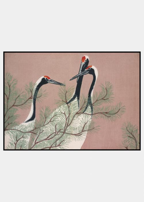 Three Cranes - plakat i ramme